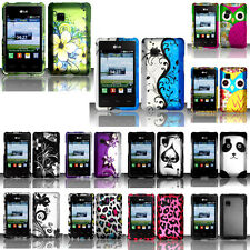 SnapOn Hard Protector Skin Phone Cover Case Accessory D-1 for LG TracFone 840G