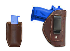 New Barsony Brown Leather IWB Holster + Mag Pouch for Bersa Colt Mini 22 25 380
