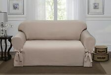 SAND LUCERNE LOVE SEAT SLIPCOVER, COUCH COVER, SOFA, LOVE SEAT, CHAIR, 4 COLORS