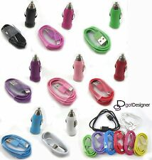 LOT WHOLESALE ALL Models Mini Car Charger, USB Cable iPhone 5/5S, Galaxy S3/S4