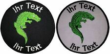 crocodile Reptiles patch with your text 10cm embroidered logo (645)