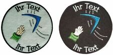 boomerang patch with your text 10cm embroidered logo (260)