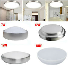Bright 7W 12W 18W LED SMD Flush Mount Ceiling Light Frosted Day/Warm White Lamp