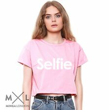 SELFIE T SHIRT CROP TOP TANK HIPSTER TUMBLR WOMENS FUN VTG RETRO # INSTAGRAM new