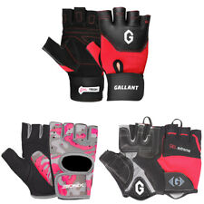 Ladies Cycling Gloves Fingerless Mitts Bike Bicycle Womens Fitness Workout Wear