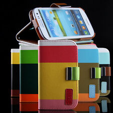 Color Wallet Pocket PU Leather Case Cover Shock Proof Flip For iPhone 5 5S