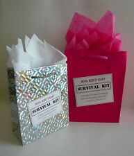 FEMALE 50th Birthday SURVIVAL KIT Novelty Gift Idea Alternative To Greeting Card