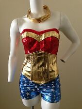 Sexy Wonder Woman Super Hero Adult costume! Corset complete Cosplay Sizes S-XXL!