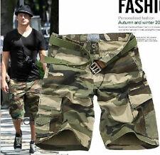 Summer Fashion Men's Camouflage Army Camo Cargo Shorts Sizes 28-38