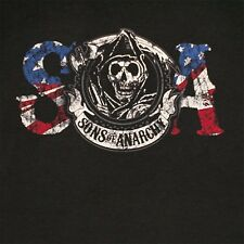 SONS OF ANARCHY REAPER COLOUR LOGO COTTON T-SHIRT - AUTHENTIC LICENSED PRODUCT