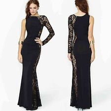 Women New Sexy Long Sleeve Club Cocktail Lace Long Dress