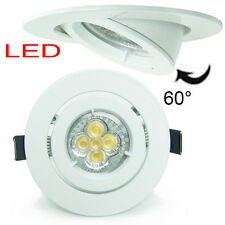 10X 5W 10W LED Recessed TILT Ceiling down light Downlight Kit dimmable 102mm