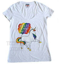 Junk Food Haters Gonna Hate UNICORN Scoop neck t-shirt Cap Sleeve. NEW SALE