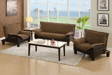 Sofa Bed Set 3 Pc Set Sectional Couch Chaise Lounge Chair Multifunctional Set