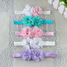New Baby Girls Polyester Fibre Flower Hairband Soft Elastic Headband Accessories