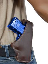 New Barsony Brown Leather Pancake Gun Holster for Glock Compact 9mm 40 45