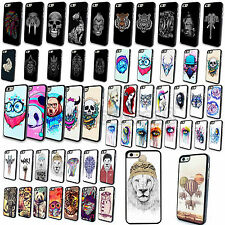 Lovely Cool Painted Characters Skull Case Cover Skin for Apple iPhone 4S 5 5S 5C
