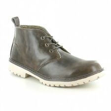 Hey Dude Hey Dude Rieti Mens Leather Lace-Up Ankle Boots - Mouse Brown