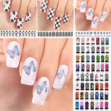 50 Types DIY Nail Art Wraps Stickers Adhesive Polish Foils Decoration Decals Hot