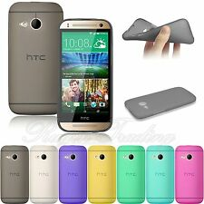 Ultra Slim Frosted Matte Gel TPU Back Case Cover Soft Skin For HTC One Mini 2