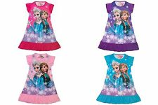 NWT Disney Girls Princess Frozen Anna Elsa Dress / pajama size 4 to 7 (1421)