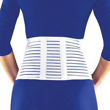 "Florida Orthopedics 7"" Cool Lightweight Latex Free Lumbar Sacral Support, White"
