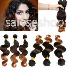 "6A Brazilian Ombre Hair Extensions Body Wave,12""-30"",UNPROCESSED HUMAN HAIR Hot"