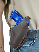 New Barsony Brown Leather Pancake Gun Holster for Smith&Wesson Full Size 9mm 40