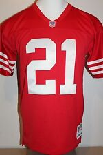 Deion Sanders #21 San Francisco 49ers Throwback Mitchell & Ness Men's Jersey-Red
