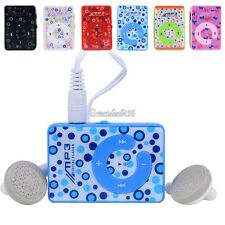 New Mini Mirror Clip Mp3 Sport Music Player TF SD Suppot 8GB With Headset
