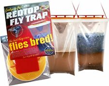 ORIGINAL REDTOP FLY TRAP - Genuine Red Top Flycatcher Quantity Discounts 1,2,5,