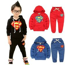 2014 Superman Children's Clothing sets Casual Outfits Sport suits Boys Tracksuit