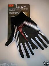 New on card NIKE Women ELITE STORM FIT TECH RUNNING GLOVES touch screen thumbs