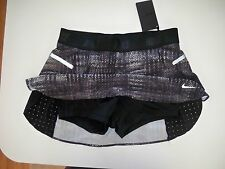 New with tag Nike Women's Luxe running 2 in 1 skirt Black print 584014-011