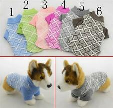 Dog Clothing Pet Winter Sweaters Hand Knitted Cashmere Wool Made Dog Clothes 6 C