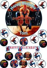 20 SPIDERMAN Cup cake Toppers Personalised Custom Edible Icing or Wafer Custom