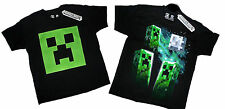 OFFICIAL Kids Child Minecraft Large Creeper/3 Creeper Heads Top T-Shirt 7-13 Yrs