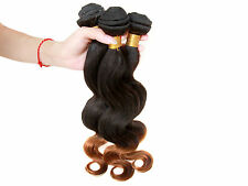 Brand New 100g 1B/30#  BRAZILIAN VIRGIN  BODY WAVE HUMAN HAIR ombre color HOT
