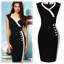 Womens Work Business Offices Party V-neck Bodycon OL Pencil Mini Career Dresses
