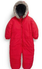 BNWT Next Red Quilted Pramsuit Snowsuit Hooded Fur All in one  Baby Boy Toddler