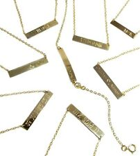 Personalized Nameplate Necklace, Engraved Name Plate Necklace, 14kt gold filled