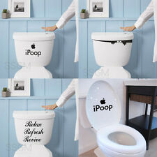Jock Funny Quote Apple iPoop Monster Toilet Seat Tank Bathroom Decal Sticker