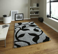 MODERN BLACK GREY CHEAP AND BEST COST FASHION CARVING SHAGGY DESIGN RUGS