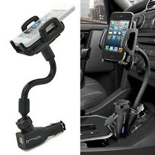 Dual 2 USB Ports Car Cigarette Lighter Charger Mount Holder For Mobile Phone GPS