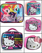 "Hello Kitty My Little Pony  Full Size 10"" Girls School Insulated Lunch Box Bag"