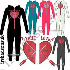 "NEW KIDS GIRLS "" TRUE LOVE FOR EVER "" PRINT Onesie ALL IN ONE PJ'S JUMPSUIT 7-13"
