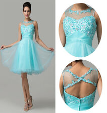 Charming Girls Bridesmaid Evening Formal Prom Party Ball Short Homecoming Dress