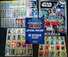 Topps FORCE ATTAX Star Wars CLONE WARS Serie 1  - SET+KARTEN Trading Card Cards