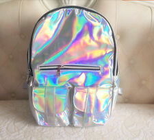 HOT!fashion Holographic Hologram Gammaray Silver Backpack Shoulder Bag Bookbag
