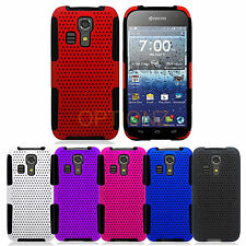 For Kyocera Hydro Icon C6730 Hybrid APEX Net Mesh Case Skin Cover + Screen